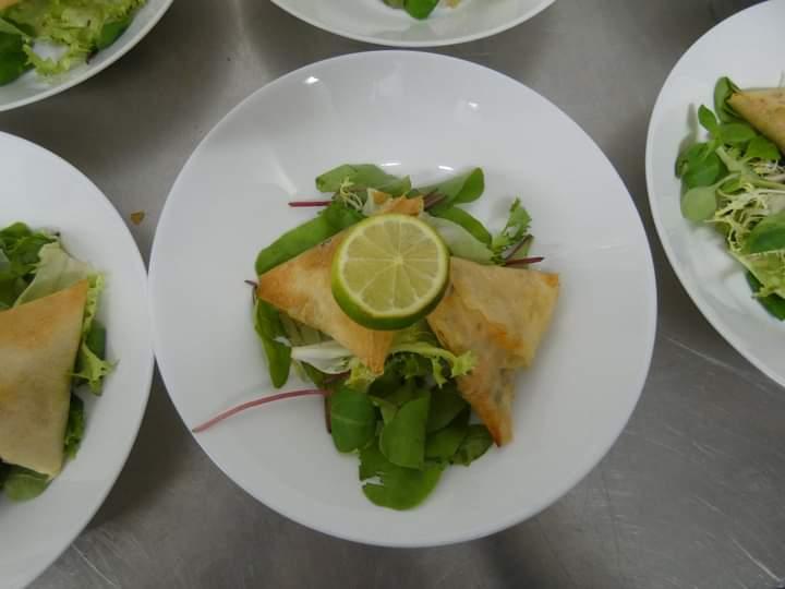 samoussa de saumon